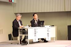 座長の寺島健史・新潟大学地域医療教育センター教授(左)と鳥谷部真一・新潟大学危機管理本部教授(右)