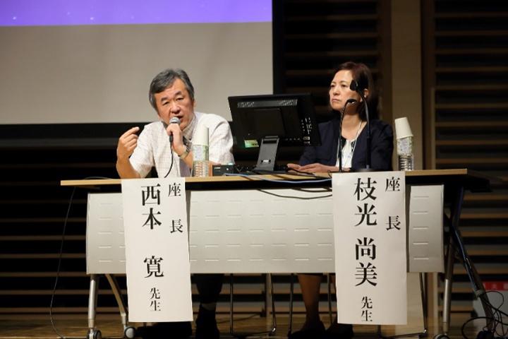 座長の西本 寛・佐久総合病院総合医療情報センターセンター長(左)と枝光尚美・大阪母子医療センター診療情報管理室室長(右)